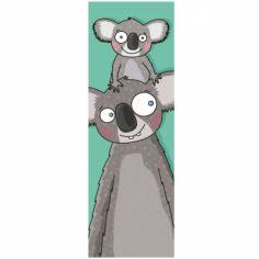 Tableau tête de koalas (20 x 60 cm)