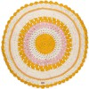 Tapis rond Gypsy coton mix rose (120 cm) - Varanassi