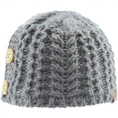 Bonnet en tricot avec boutons gris (12-18 mois)