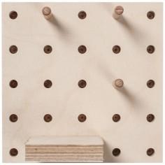 Panneau perforé pegboard carré (15 x 15 cm)
