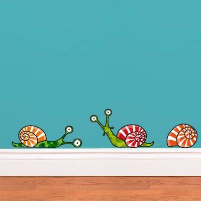Stickers muraux 3 escargots  par Série-Golo