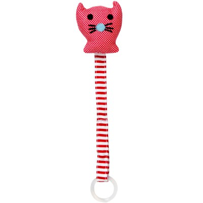 Attache sucette chat rouge  par Franck & Fischer