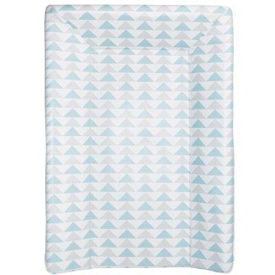 Matelas à langer luxe triangles bleu et gris (50 x 70 cm)  par Babycalin