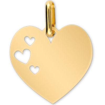 Médaille cœur personnalisable (or jaune 375°)  par Lucas Lucor