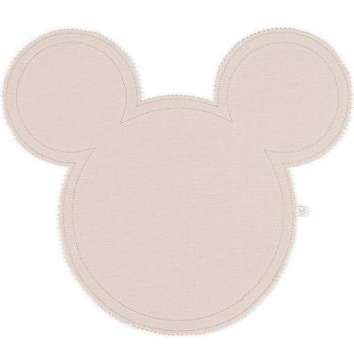 Set de table Mickey en lin rose poudré et doré Cotton&Sweets
