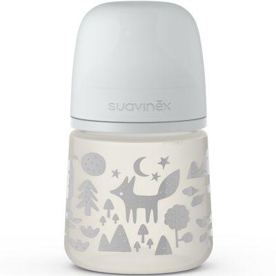 Biberon avec tétine symétrique SX PRO S renard gris (150 ml)  par Suavinex