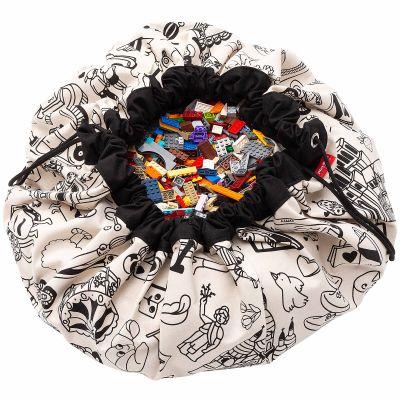 Sac à jouets 2 en 1 réversible Color your bag Omy Paris  par Play&Go