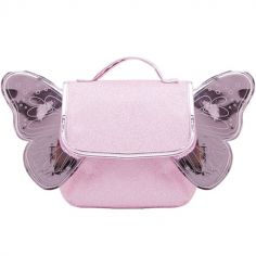 Cartable maternelle pailleté Papillon rose