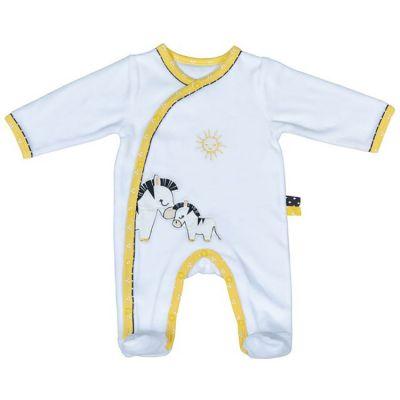 Pyjama chaud Pluche et Pompon zèbre (3 mois)  par Sauthon