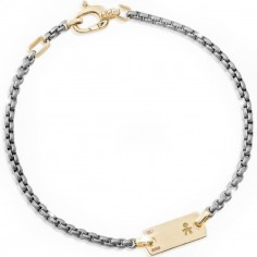 Bracelet papa Daddy garçon (or jaune 375°)