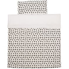 Housse de couette + taie d'oreiller pour berceau Cats (80 x 80 cm)