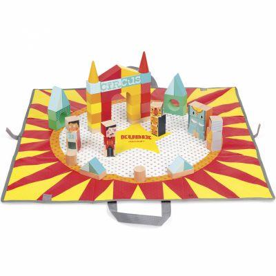 Blocs de construction Kubix Cirque (60 cubes) Janod