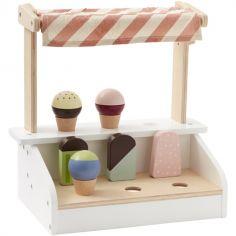 Stand de glaces en bois Bistro (7 pièces)