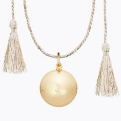 Bola sur cordon rose doré Olympia (plaqué or jaune)