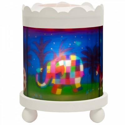 Manège blanc Elmer l'éléphant   par Trousselier