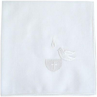 Lange de baptême blanc naturel (40 x 45 cm)  par Baricentro