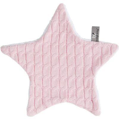 Doudou plat étoile Cable Uni rose (30 x 30 cm) Baby's Only