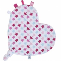 Doudou attache sucette étoile Mixed Stars Pink