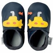 Chaussons bébé cuir Soft soles sous-marin (3-9 mois) - Bobux