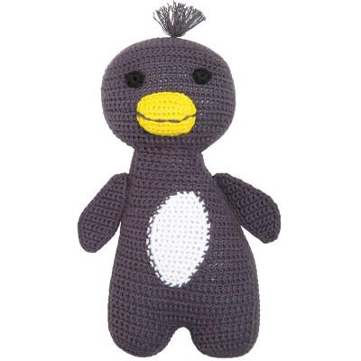 Peluche Amigo le pingouin en crochet de coton bio (21 cm) Franck & Fischer
