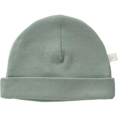 Bonnet de naissance en coton bio Dusty green Fresk
