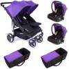 Pack Trio Poussette Double Easy Twin 3.0S violet - Baby Monsters
