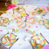 Assiettes en carton Berlingot (8 pièces)  par Arty Fêtes Factory