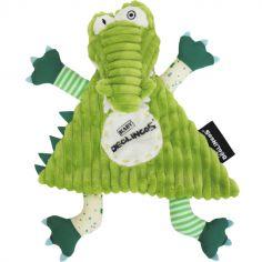 Doudou plat Aligatos l'Alligator (25 cm)
