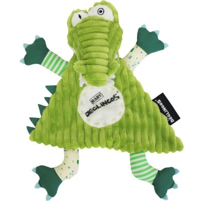Doudou plat Aligatos l'Alligator (25 cm) Les Déglingos