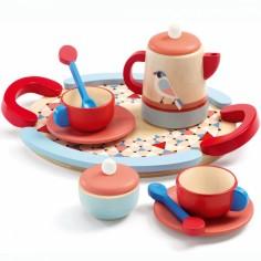 Service à thé en bois Tea Time