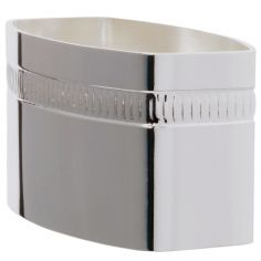 Rond de serviette Lien Godron personnalisable (métal argenté) dans son coffret