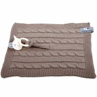 Attache sucette Cable Uni taupe  par Baby's Only