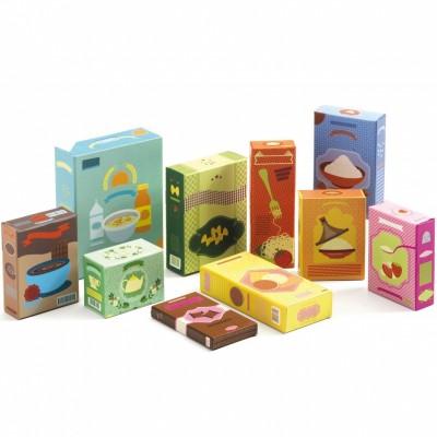 Set épicerie et boîtes en carton  par Djeco