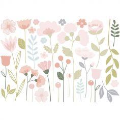 Grand sticker fleurs tiges  (90 x 63 cm)