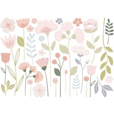 Grand sticker fleurs tiges  (90 x 63 cm)  par Lilipinso