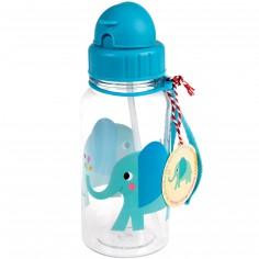 Gourde à paille Elvis l'éléphant (500 ml)