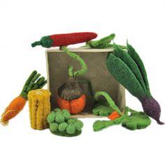 Set de 6 minis légumes en feutrine
