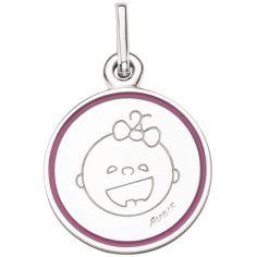 Médaille Petites Bouilles Fille 16 mm (argent 925°)
