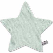 Doudou plat étoile Classic vert menthe poudré (30 x 30 cm)  par Baby's Only