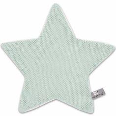 Doudou plat étoile Classic vert menthe poudré (30 x 30 cm)