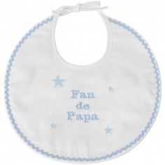 Bavoir de naissance fan de papa bleu
