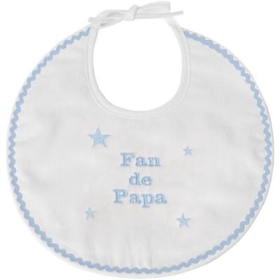Bavoir de naissance fan de papa bleu  par ANVIE