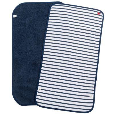 Lot de 2 serviettes de matelas à langer rayures bleues (35 x 65 cm) BabyToLove