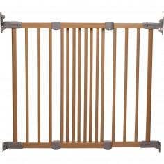 Barrière de sécurité Flexi Fit bois naturel et argent
