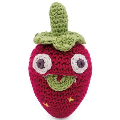 Hochet Blaise la mini fraise (10 cm)  par MyuM