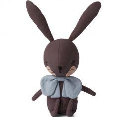 Coffret peluche lapin gris (18 cm)