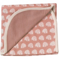 Couverture légère réversible Pink Bear (72 x 72 cm)