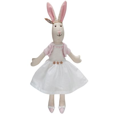 Peluche lapin fille Lucy (25 cm) Kids Depot