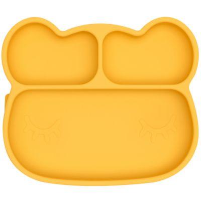 Assiette à compartiments ours jaune  par We Might Be Tiny