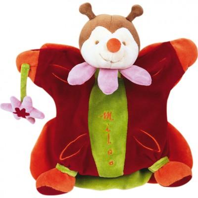 Doudou marionnette Miloo le papillon aux fleurs (25 cm)  par Doudou et Compagnie
